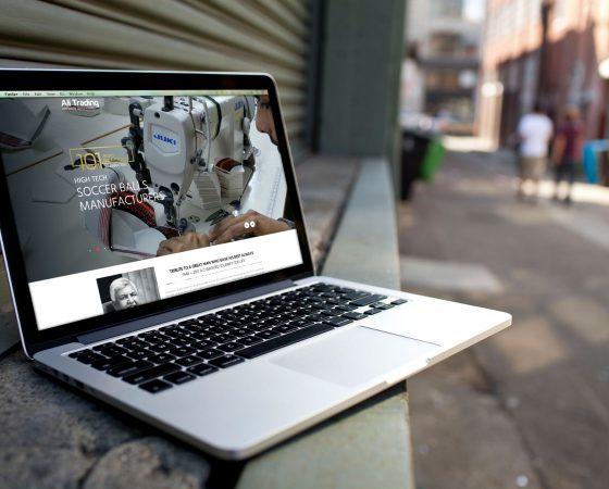 ALI TRADING CO. Website design and development