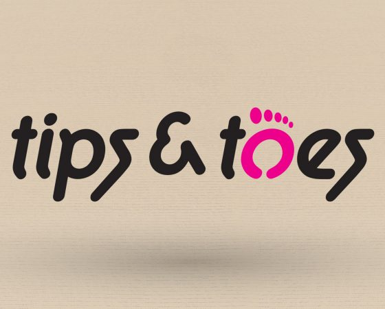 TIPS AND TOES Logo design